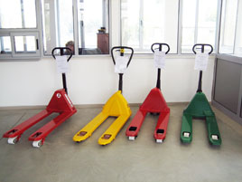 handpallet trucks on stock